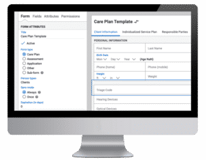 Image of AxisCare's custom forms builder
