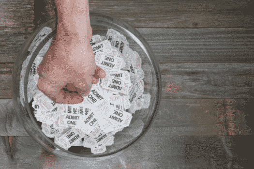 Tickets in a bowl
